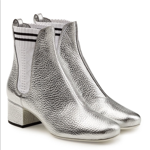 Fendi Shoes | Silver Boots | Poshmark